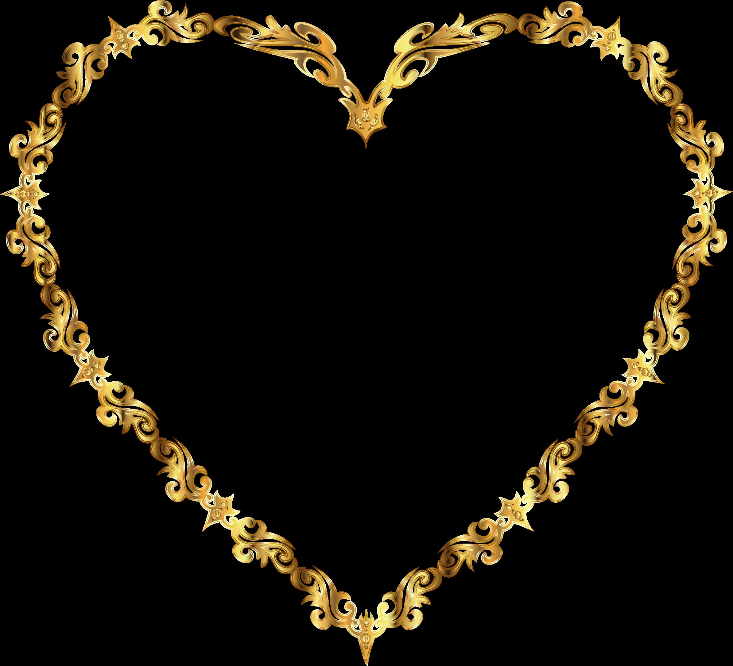 Fancy heart clipart graphic transparent stock Clipart - Colorful Fancy Decorative Line Art Heart 4 graphic transparent stock
