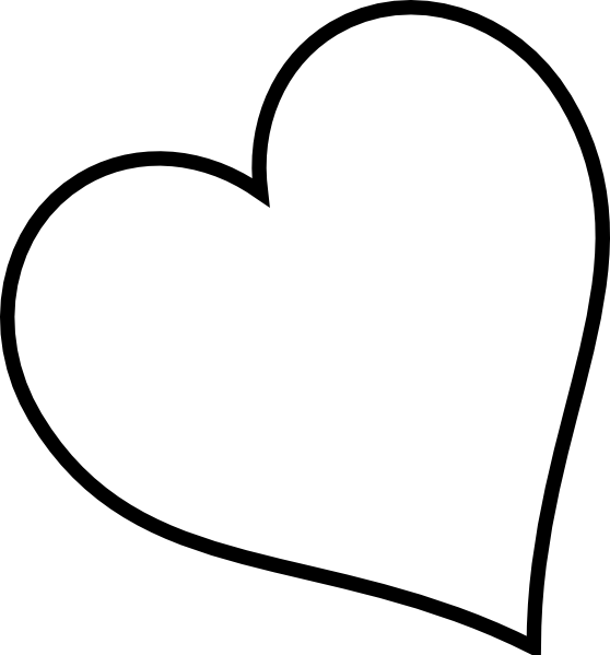 Heart clipart black and white outline png transparent stock Fancy Black Heart Clipart | Clipart Panda - Free Clipart Images png transparent stock