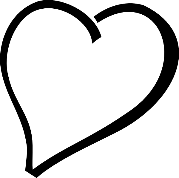 Happy heart clipart black and white jpg library Fancy Heart Clipart - Clipart Kid jpg library