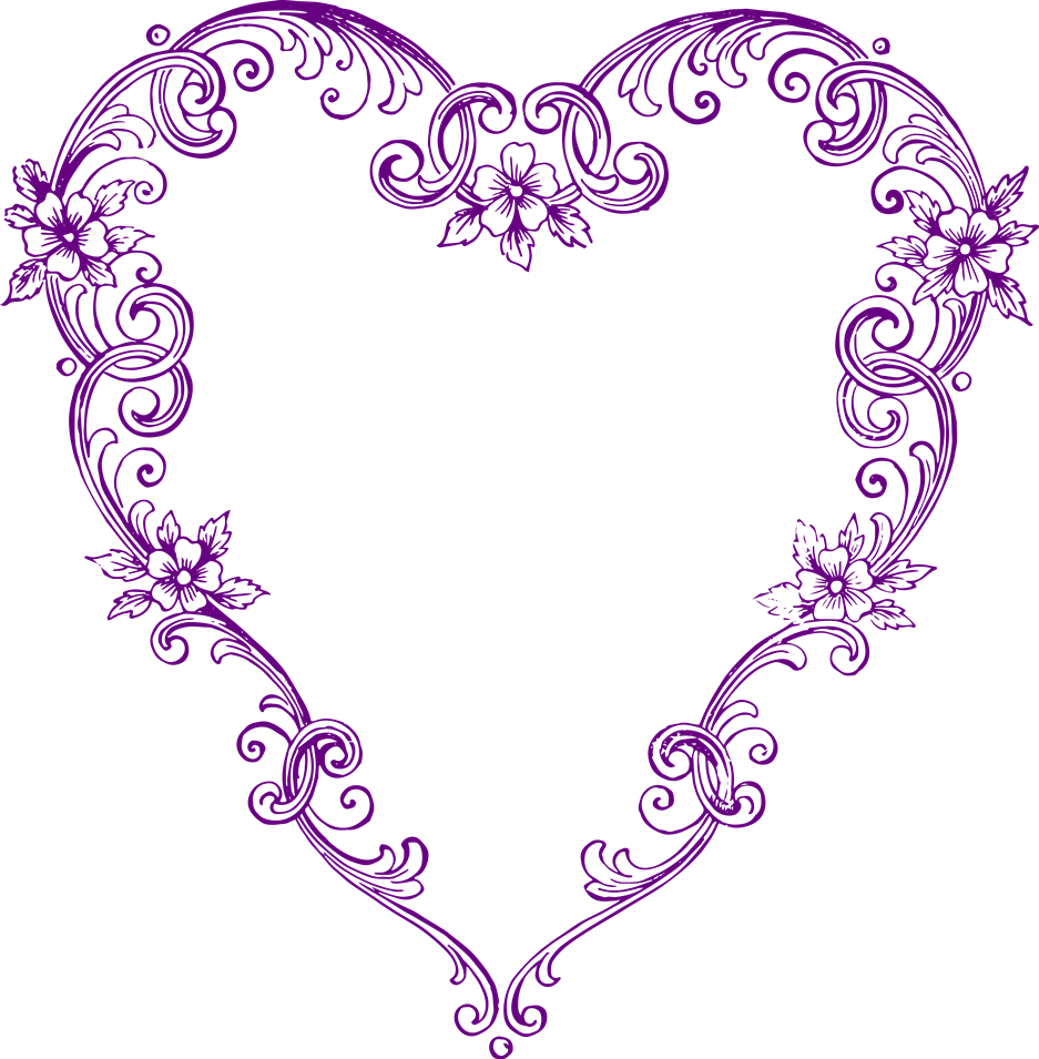 Heart clipart purple clipart royalty free download Free Images - Fancy Vintage Purple Heart Clip Art | Clip Art Department clipart royalty free download