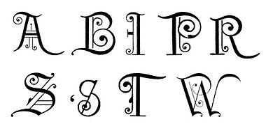 Fancy lettering clipart svg stock Fancy Alphabet Clipart - Clipart Kid svg stock