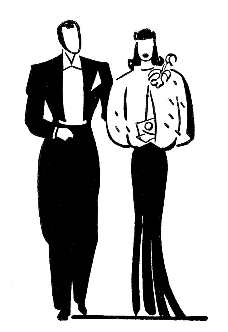 Fancy people clipart image black and white 17 Best images about Retro images on Pinterest | Clip art, Lady ... image black and white
