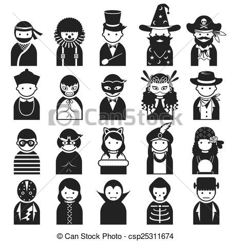 Fancy people clipart royalty free download Vectors Illustration of Various People Symbol Icons Fancy - People ... royalty free download