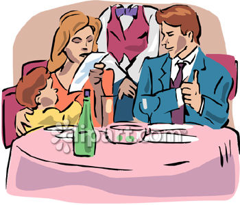 Fancy people clipart graphic library library Family Dining in a Fancy Restaurant Clipart - Royalty Free Clip ... graphic library library