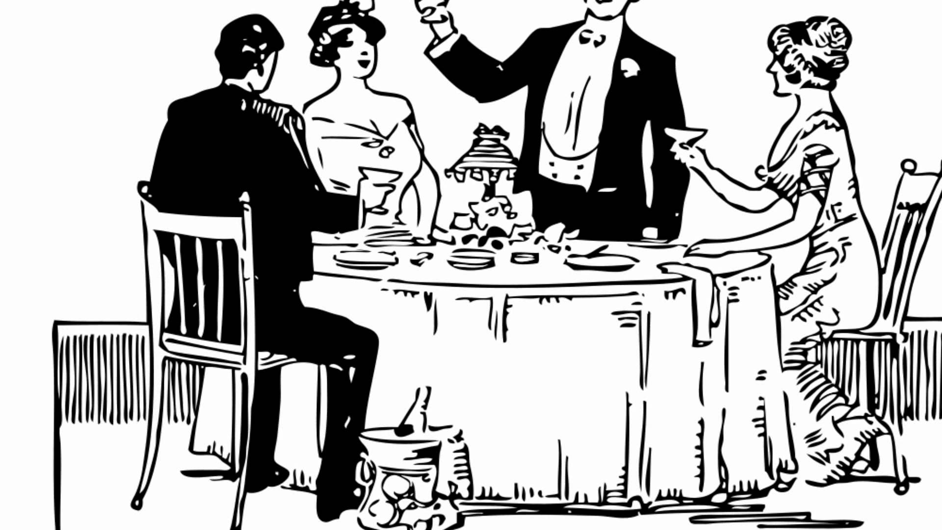 Fancy people clipart clip art free download Posh dinner party sound effect - YouTube clip art free download