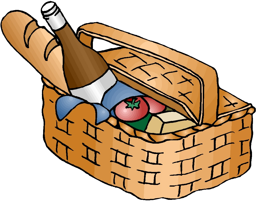 Picnic basket clipart free image black and white download Collection of Picnic basket clipart | Free download best Picnic ... image black and white download