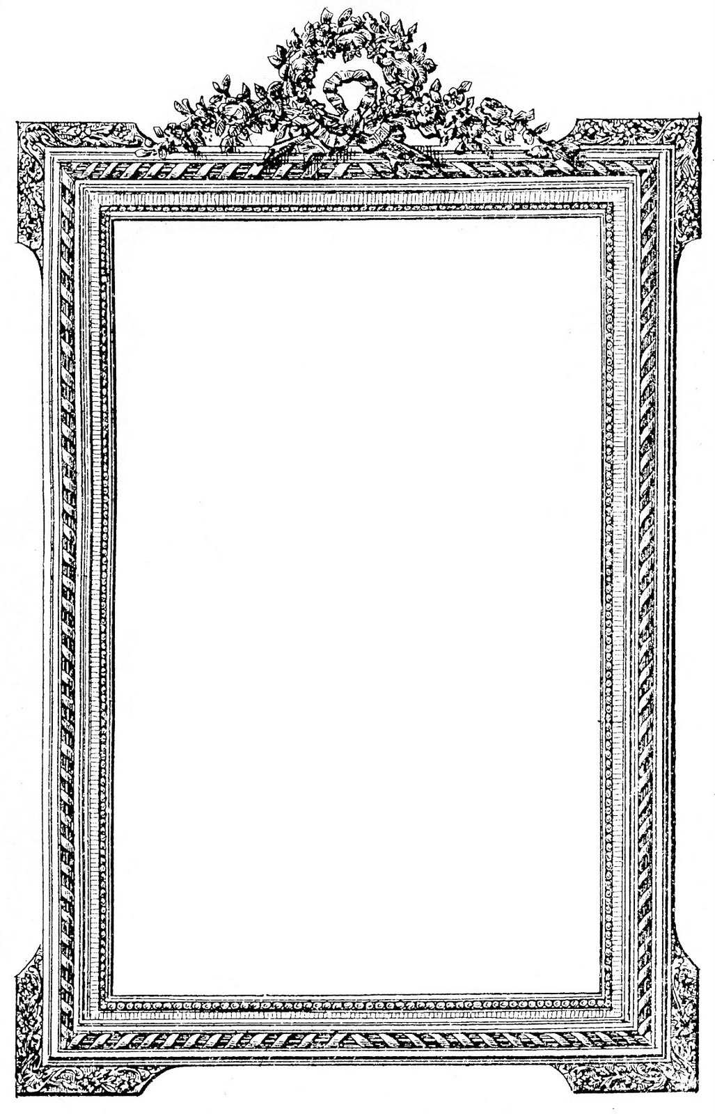 Fancy picture frame clipart clip art freeuse download 24 Frame Clipart - Fancy and Ornate - Updated! - The Graphics Fairy clip art freeuse download
