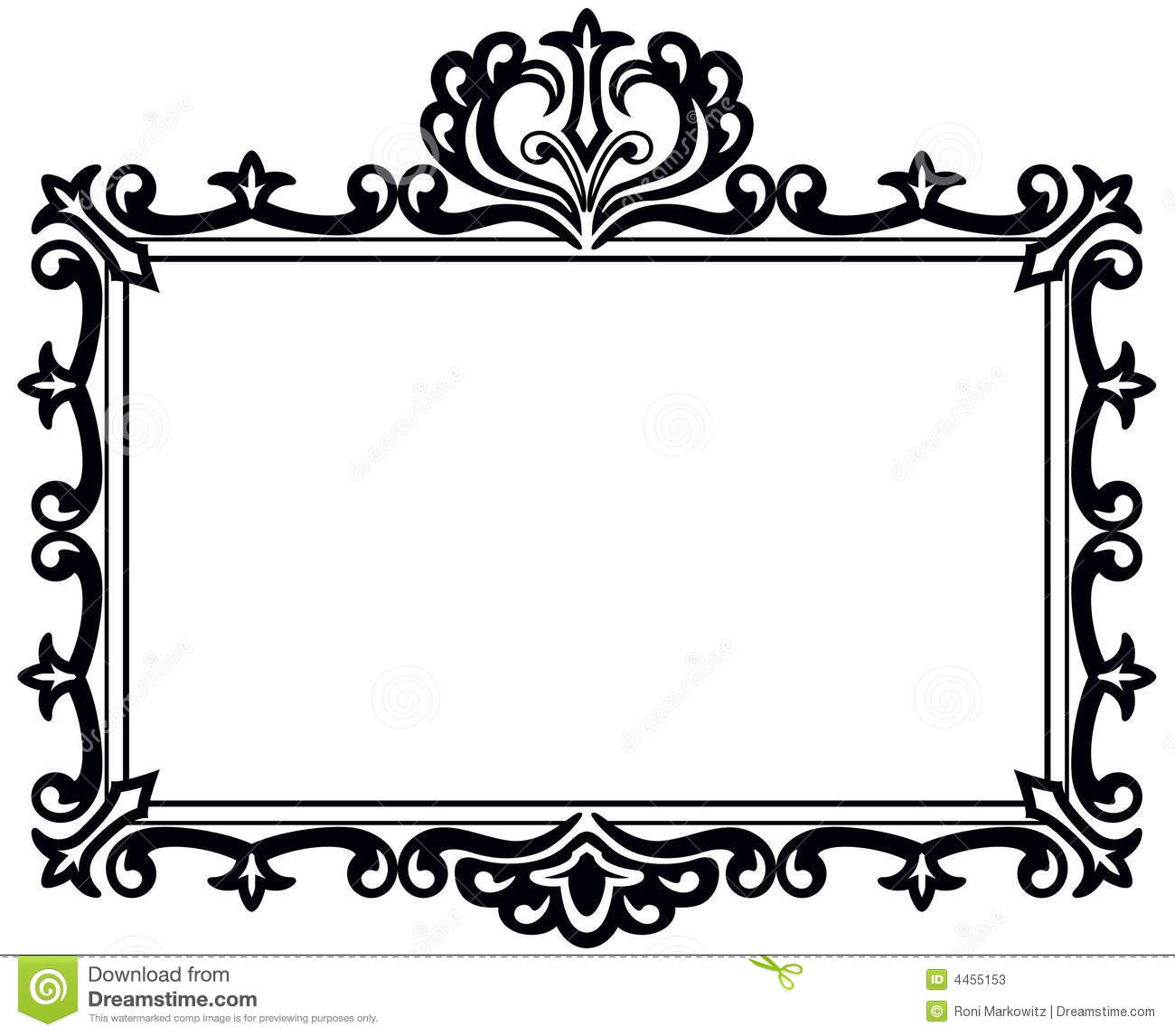 Fancy picture frame clipart banner freeuse Fancy Frame Clip Art Black And White | Clipart Panda - Free Clipart ... banner freeuse