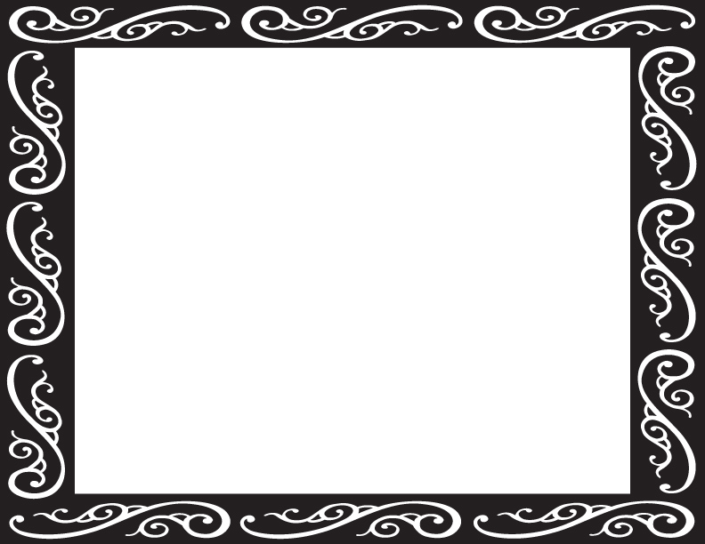 Fancy picture frame clipart clip art black and white stock Fancy Frame Clip Art Black And White | Clipart Panda - Free Clipart ... clip art black and white stock