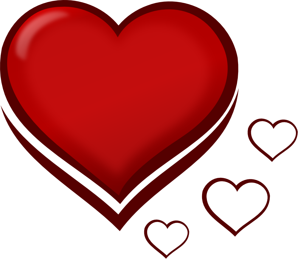 Fancy red heart clipart graphic download Fancy Red Heart Clipart | Letters Format graphic download