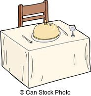 Fancy table clipart image free stock Clipart Vector of Isolated Fancy Table Setting - Isolated fancy ... image free stock