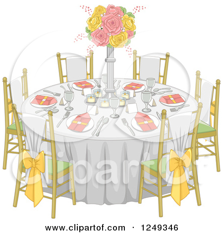 Fancy table clipart clip download Royalty-Free (RF) Table Setting Clipart, Illustrations, Vector ... clip download
