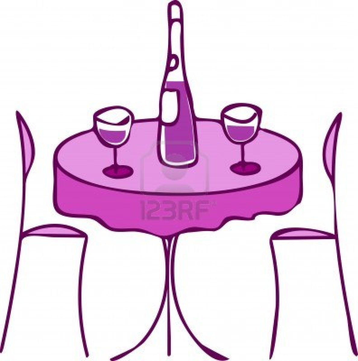 Fancy table clipart clip art download Clipart of a fancy banquet table with chairs - ClipartFest clip art download