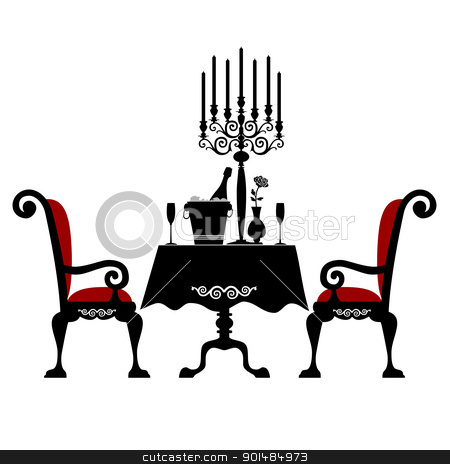 Fancy table clipart clip black and white library Fancy Dinner Table Clipart - Clipart Kid clip black and white library