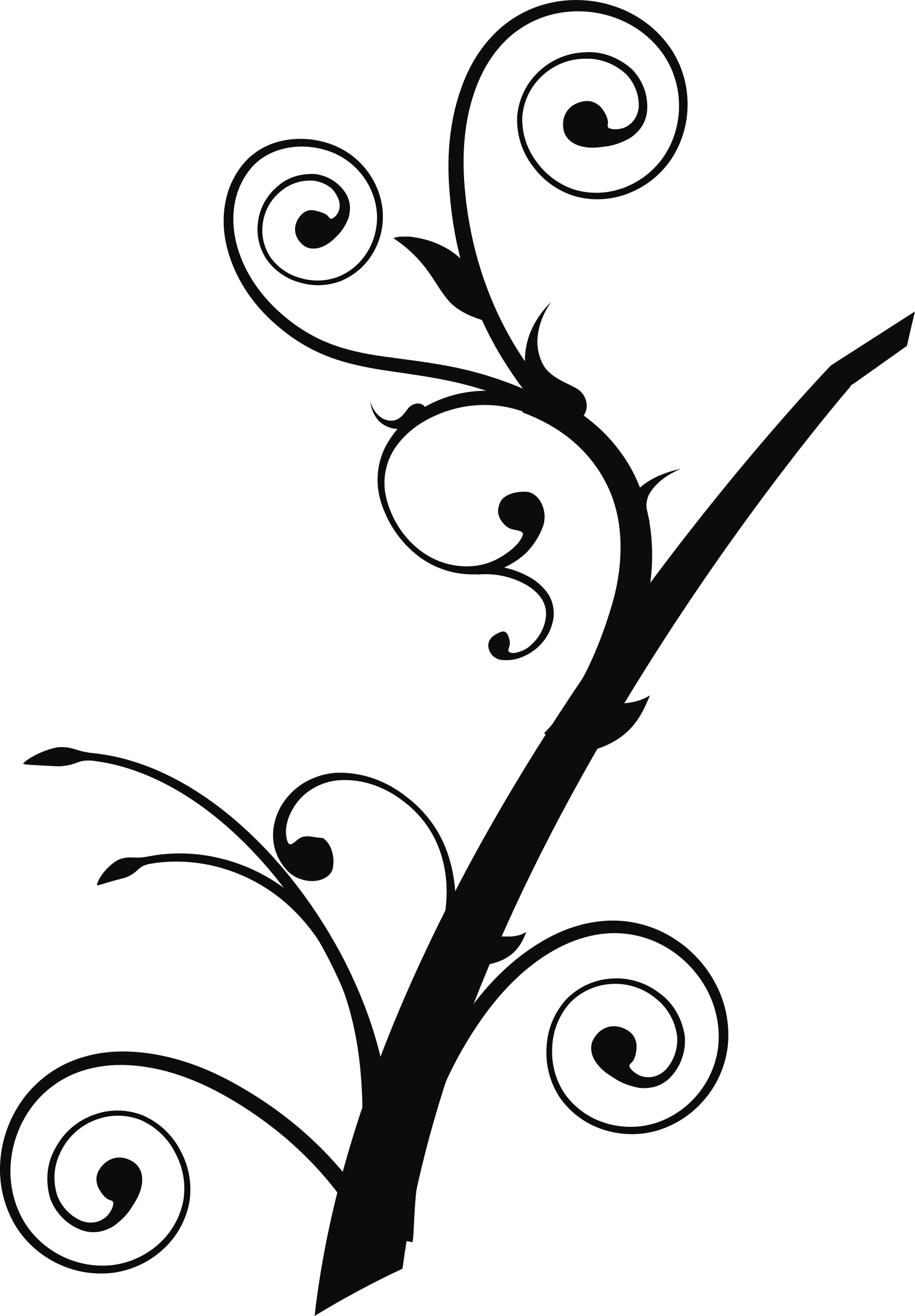 Fancy tree clipart transparent library Clipart - Twisted Branch 2 transparent library