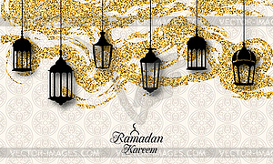 Fanoos ramadan clipart clip art freeuse library Arabic Lanterns, Fanoos for Ramadan Kareem, - vector clip art clip art freeuse library