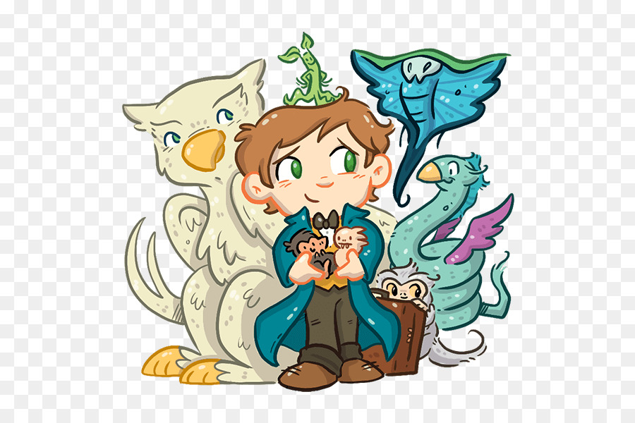 Fantastic beasts and where to find them clipart transparent png library Fantastic Beasts And Where To Find Them Cartoon png download - 600 ... png library