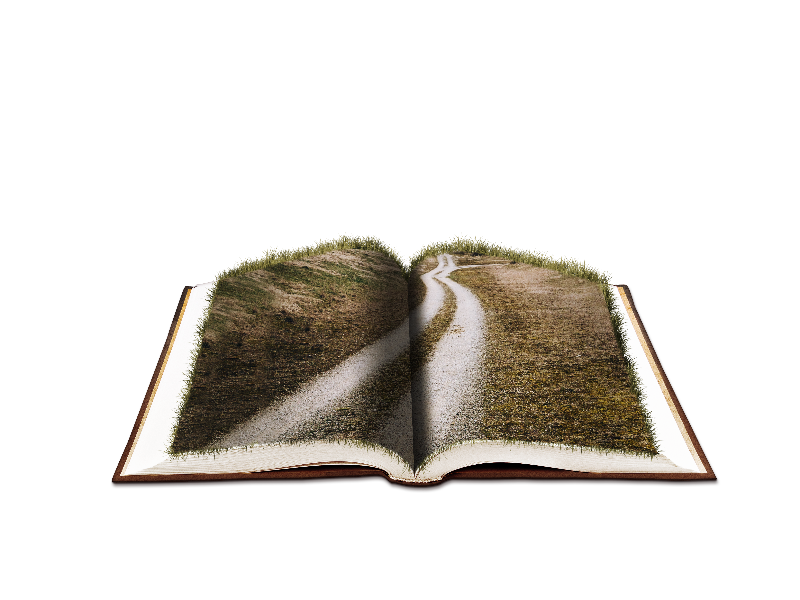 Open vintage book drawn clipart graphic freeuse stock Open Book Fantasy with Farm Road PNG Image (Nature-Grass-And-Foliage ... graphic freeuse stock