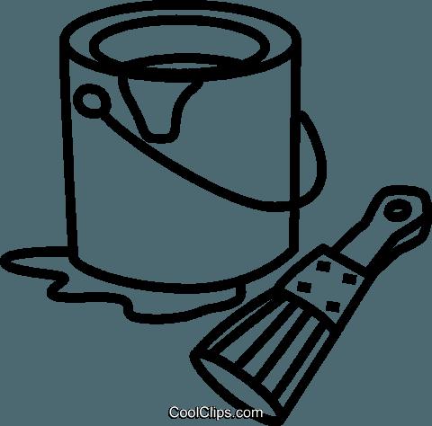 Farbe clipart clipart transparent library Farbe und Pinsel können Vektor Clipart Bild -vc041631-CoolCLIPS.com clipart transparent library
