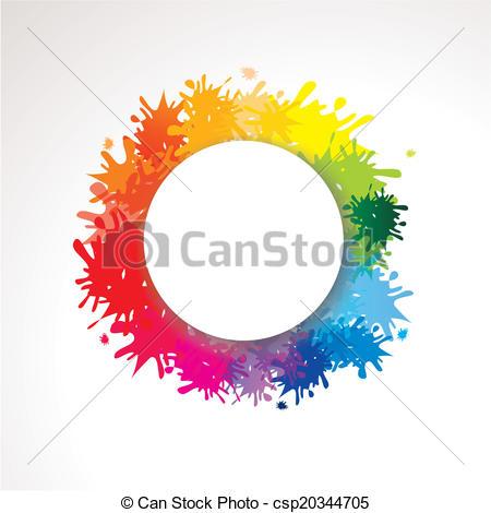 Farbkleckse mit pinsel clipart clipart free stock Vector Clipart of Hintergrund mit Farbklecksen und Textfreiraum ... clipart free stock