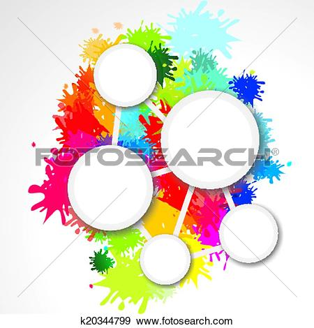 Farbkleckse mit pinsel clipart graphic black and white download Clip Art of Hintergrund mit Farbklecksen und Te k20344799 - Search ... graphic black and white download