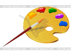 Farbpalette mit pinsel clipart picture royalty free mit Farben und Pinsel - Vektor-Clipart / Vektorgrafik picture royalty free