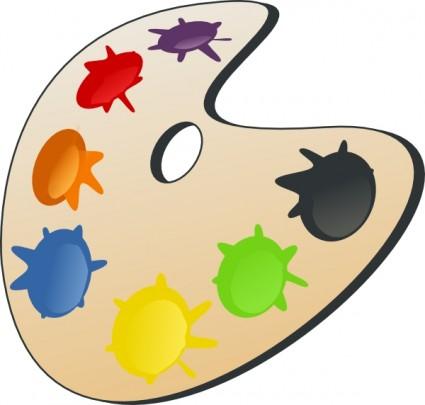 Farbpalette mit pinsel clipart graphic freeuse stock Farbe Palette ClipArt-Vektor-ClipArt-Kostenlose Vector Kostenloser ... graphic freeuse stock
