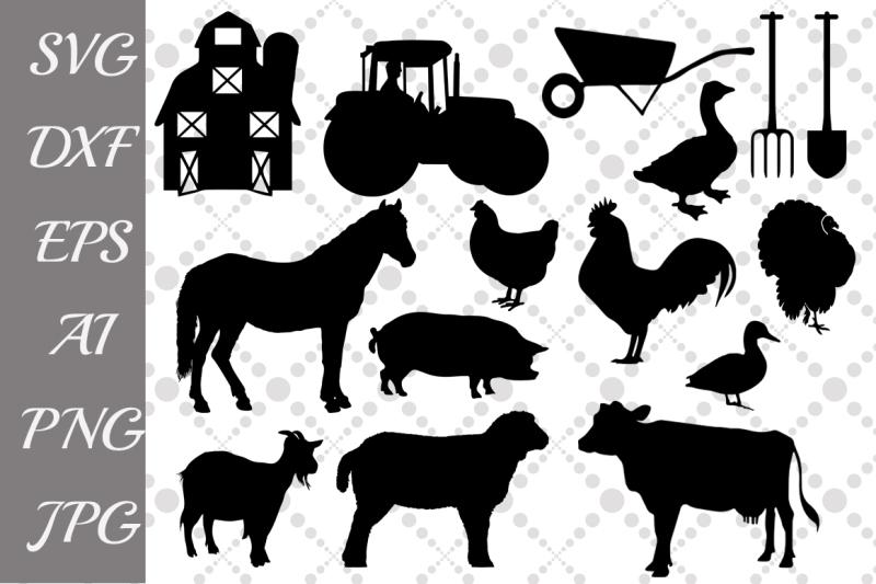 Farm animal silhouette clipart free picture free Free Farm Svg ,FARM ANIMALS, Farm Clipart,Animals Silhouette Crafter ... picture free