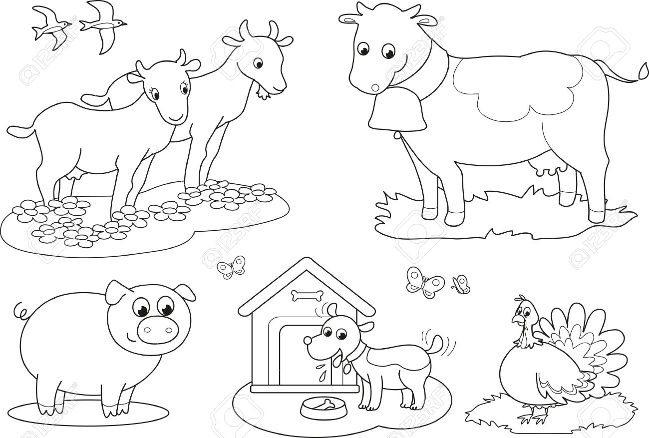 Free black and white farm animal clipart clipart freeuse stock Free Black And White Farm Animal Clipart, Download Free Clip Art ... clipart freeuse stock