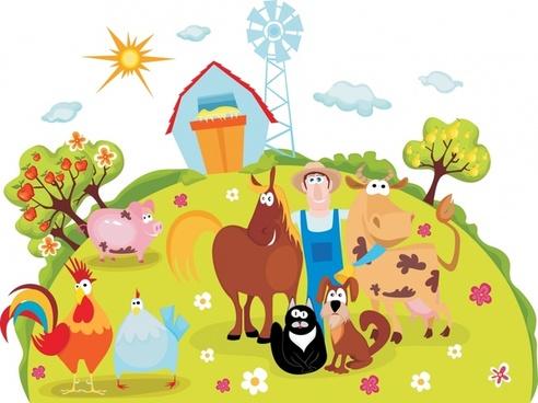 Farm cartoon clipart clipart library Cartoon farm animal image free vector download (23,559 Free vector ... clipart library