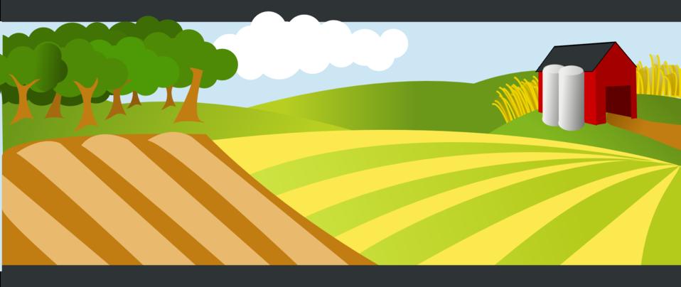 Farm cartoon clipart png free download Public Domain Clip Art Image | A farm landscape | ID: 13526491218331 ... png free download
