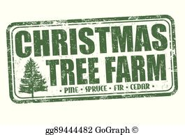 Farm christmas clipart banner transparent stock Christmas Tree Farm Clip Art - Royalty Free - GoGraph banner transparent stock