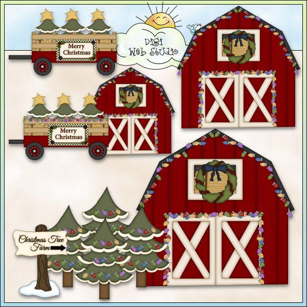 Farm christmas clipart graphic royalty free download Christmas Tree Farm 1 - NE Angie Wenke Clip Art : Digi Web Studio ... graphic royalty free download