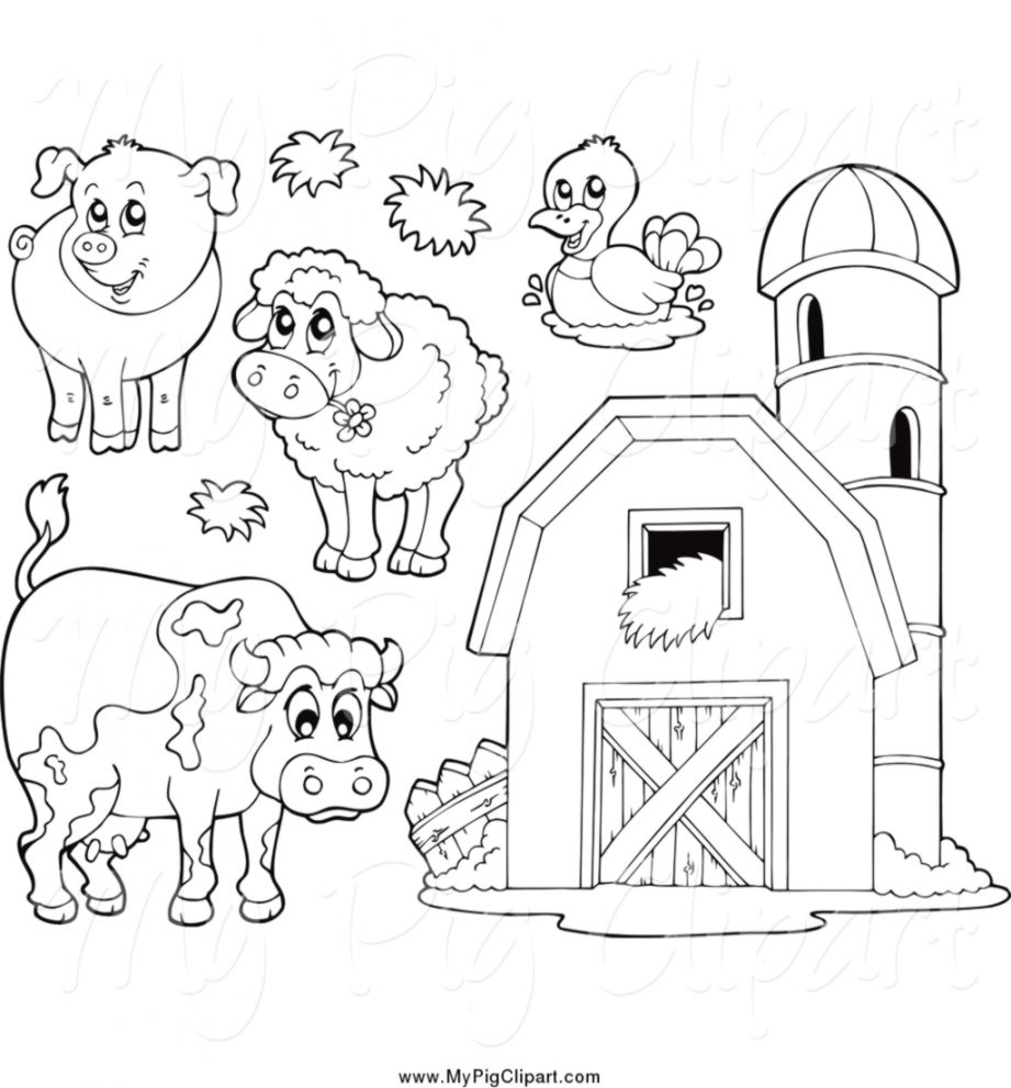 Free black and white farm animal clipart png freeuse library Barn Clipart Black And White | Laptop Wallpapers png freeuse library