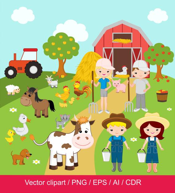 Farm clipart images clip art free Farm Clipart / Farm digital clip art / barnyard clipart / farm ... clip art free