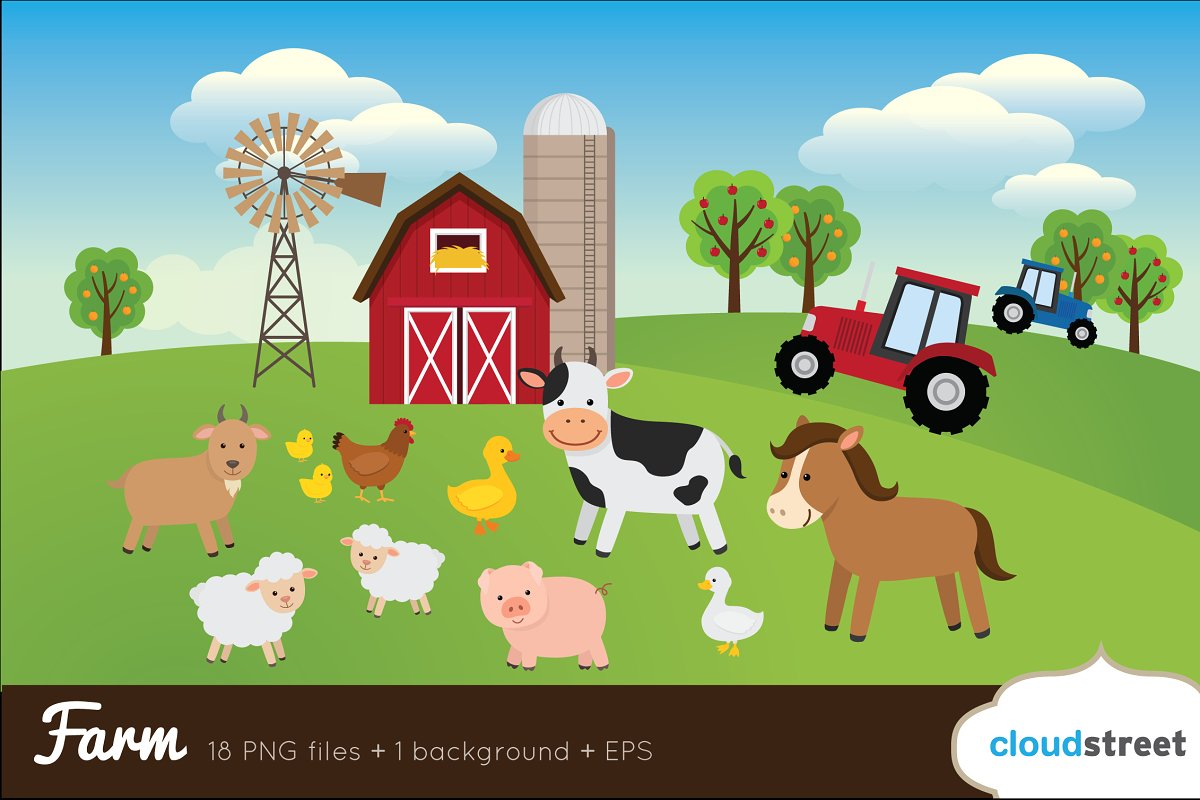 Farm clipart images vector royalty free download Farm Clip Art vector royalty free download