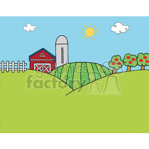 Farm clipart pictures clip royalty free Country Farm clipart. Royalty-free clipart # 379572 clip royalty free