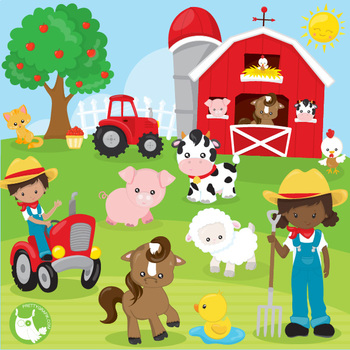Farm clipart pictures graphic library Happy farms clipart commercial use, vector graphics - CL1180 graphic library