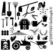 Farm equipment clipart