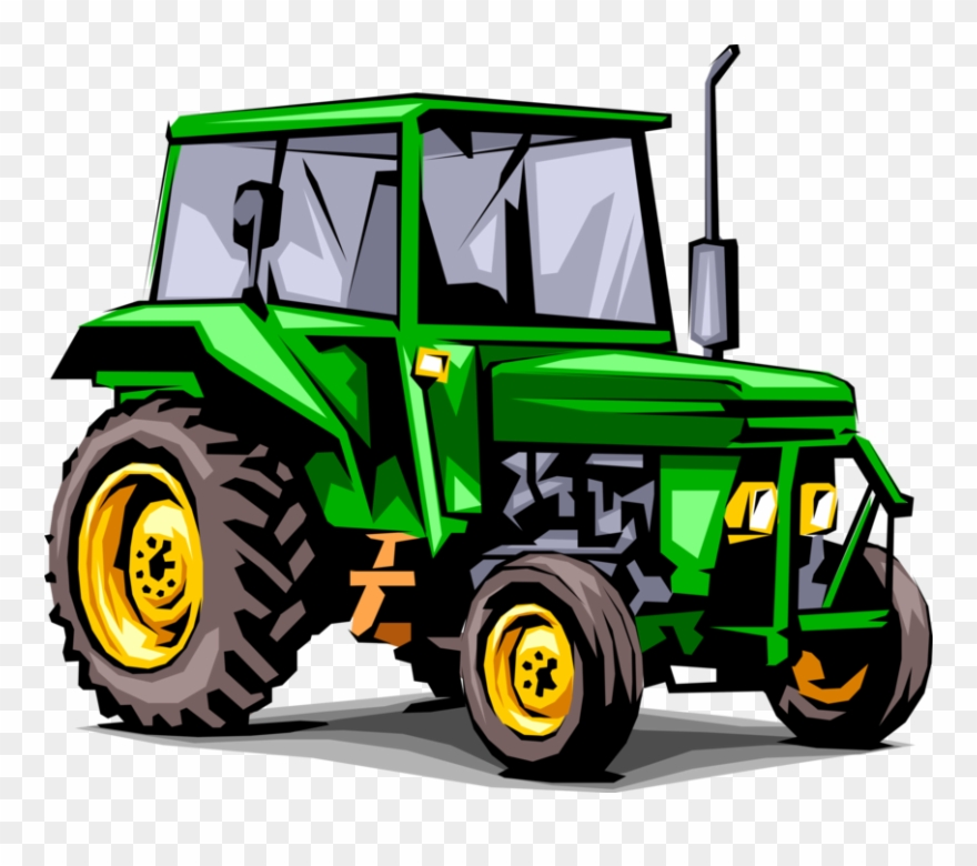 Farm equipment clipart clip royalty free download Vector Illustration Of Agriculture And Farming Equipment - Traktor ... clip royalty free download