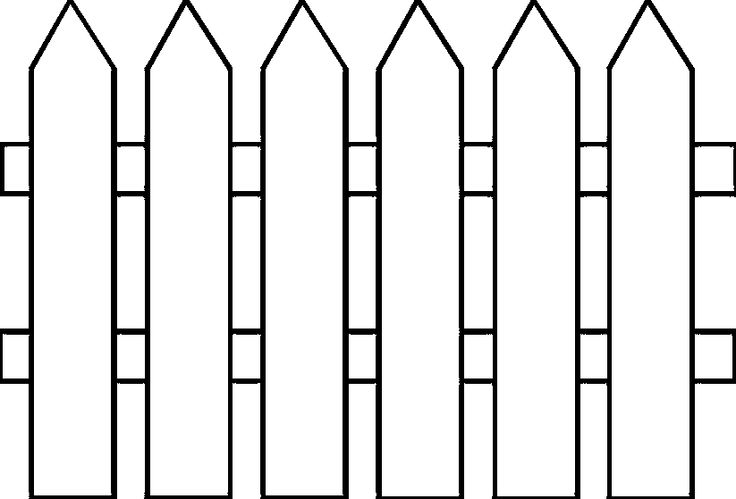 White picket fence clipart graphic black and white Farm fence clipart black and white - Clip Art Library graphic black and white