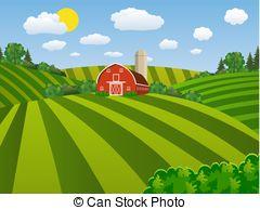 Farm field clipart jpg download Cartoon farm green seeding field, Cartoon farm field green... vector ... jpg download