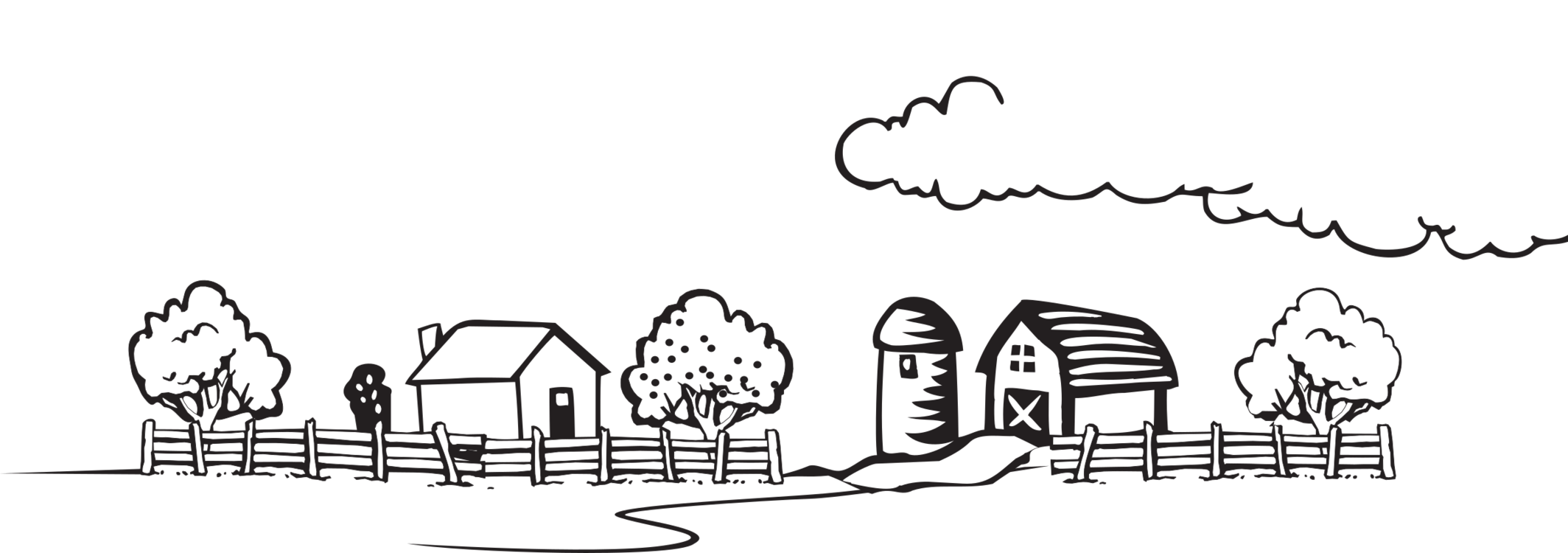 Farm house cblack and white clipart transparent stock Farmhouse Farmer Download Coloring book free commercial clipart ... transparent stock