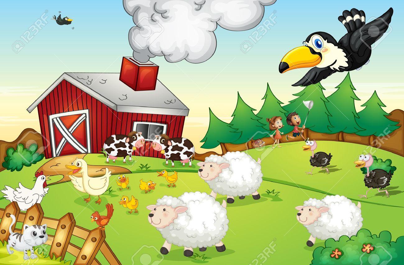 Farm scene clipart vector library stock Farm scene clipart 5 » Clipart Portal vector library stock