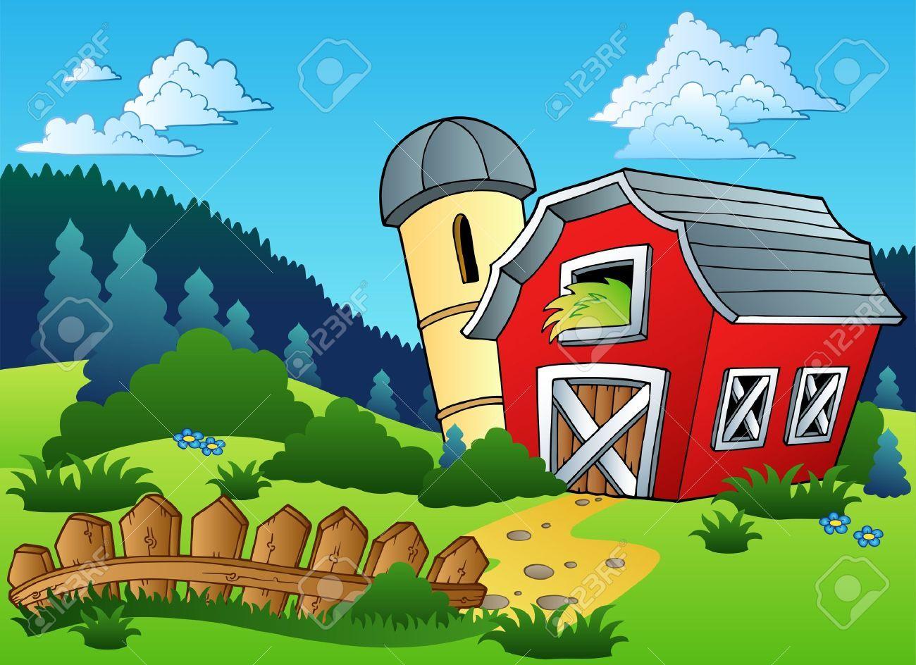 Farm scene clipart image library library Resultado de imagen para farm scene wallpaper FOR KIDS | Painting ... image library library