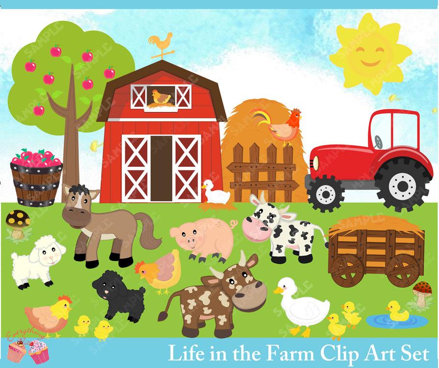 Farm scene clipart image free stock Farm Scene Clipart Life - Clipart1001 - Free Cliparts image free stock