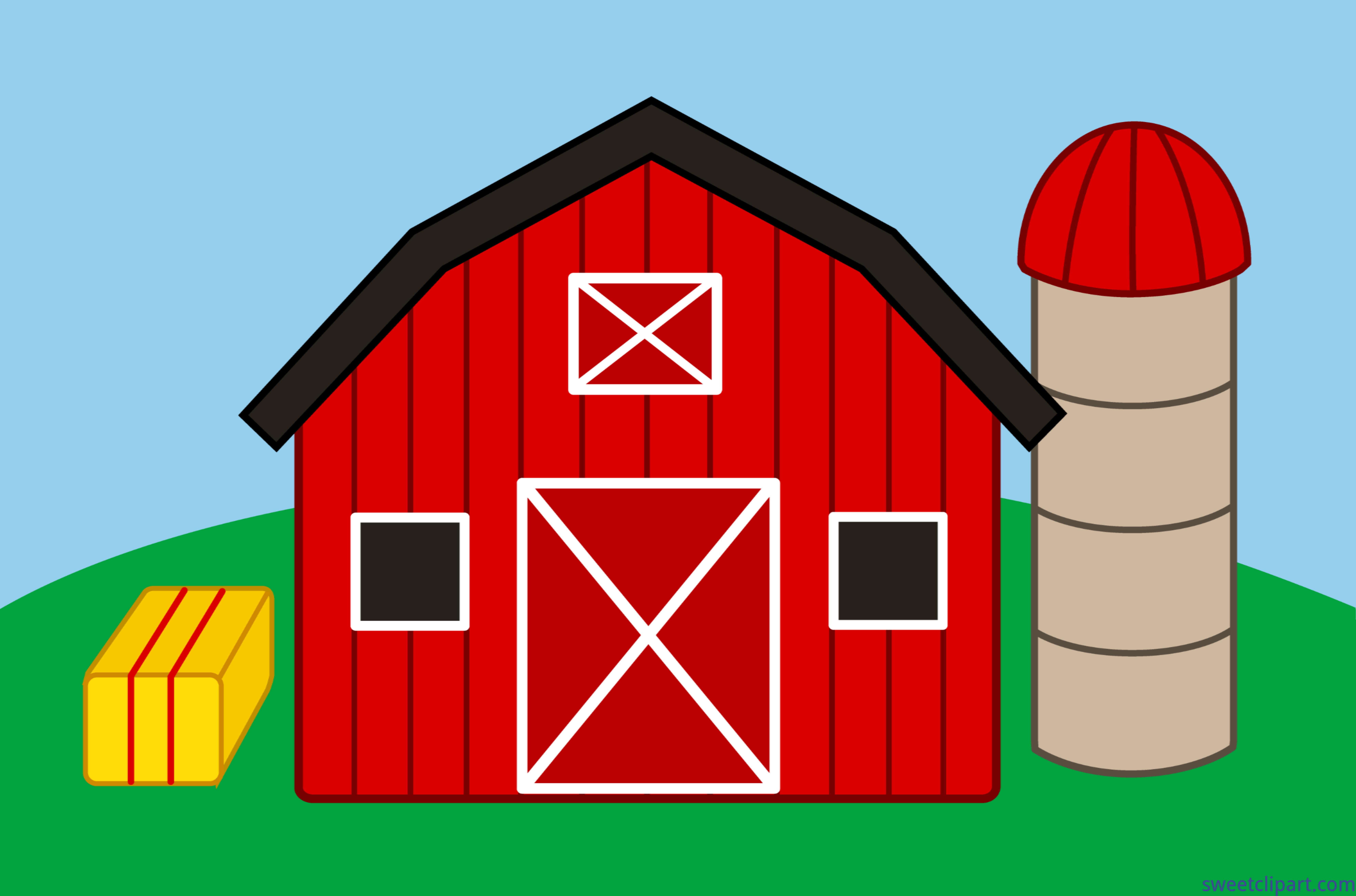 Farm scene clipart jpg royalty free stock Farm Scene Clip Art - Sweet Clip Art jpg royalty free stock