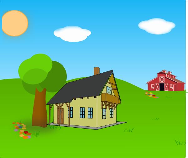 Farm scene clipart clip freeuse download Free Farm Scene Cliparts, Download Free Clip Art, Free Clip Art on ... clip freeuse download