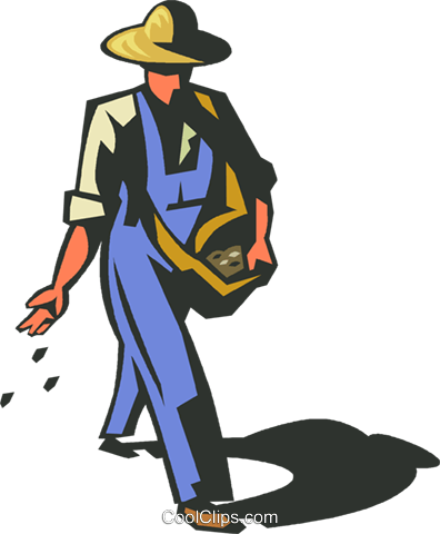 Farmer sowing seeds clipart clipart freeuse download farmer planting seeds Royalty Free Vector Clip Art illustration ... clipart freeuse download