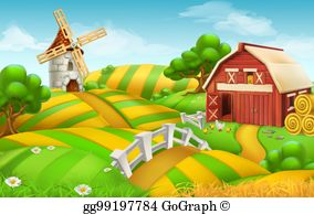 Farming field clipart picture freeuse stock Farm Field Clip Art - Royalty Free - GoGraph picture freeuse stock